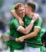 19 August 2018; Cian Lynch celebrates with Pat Ryan of Limerick following the GAA Hurling All-Ireland Senior Championship Final match between Galway and Limerick at Croke Park in Dublin.  Photo by Eóin Noonan/Sportsfile