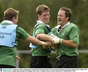 2 September 2003; Ireland players Brian O'Driscoll, left, Ronan O'Gara and David Humphreys pictured during squad training. Irish Rugby squad training, Naas Rugby Club, Naas, Co. Kildare. Picture credit; Matt Browne / SPORTSFILE *EDI*