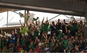 19 August 2018; Limerick supporters in the Davin Stand celebrate after the GAA Hurling All-Ireland Senior Championship Final match between Galway and Limerick at Croke Park in Dublin. Photo by Daire Brennan/Sportsfile