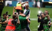 19 August 2018; Limerick manager John Kiely is the centre of celebrations after the GAA Hurling All-Ireland Senior Championship Final match between Galway and Limerick at Croke Park in Dublin.  Photo by Ray McManus/Sportsfile