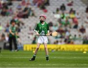 19 August 2018; Kayla McCann, Scoil Mhuire, Cluain Tiobraid, Monaghan, representing Limerick, during the INTO Cumann na mBunscol GAA Respect Exhibition Go Games at the GAA Hurling All-Ireland Senior Championship Final match between Galway and Limerick at Croke Park in Dublin. Photo by Ray McManus/Sportsfile