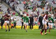 19 August 2018; Niamh Mooney, Aughamore NS, Ballyhaunis, Mayo, representing Limerick, during the INTO Cumann na mBunscol GAA Respect Exhibition Go Games at the GAA Hurling All-Ireland Senior Championship Final match between Galway and Limerick at Croke Park in Dublin. Photo by Ray McManus/Sportsfile