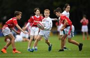 19 August 2018; Conor Scanlon of St Brigids Newbridge, Co. Kildare, competing in the Rugby Tag U11 event during day two of the Aldi Community Games August Festival at the University of Limerick in Limerick. Photo by Harry Murphy/Sportsfile