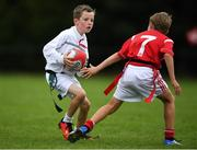 19 August 2018; Tadgh Scanlon of St Brigids Newbridge, Co. Kildare, in action against Jack Dervan, Co. Limerick, as they compete in the Rugby Tag U11 event during day two of the Aldi Community Games August Festival at the University of Limerick in Limerick. Photo by Harry Murphy/Sportsfile