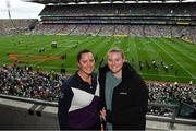 19 August 2018; Winners of the 2018 Magners Sydney Irish Festival competition enjoying the All Ireland Final as part of their prize. Aleacia Olm, left, and Danielle Davey have travelled all the way from Australia thanks to the Irish Festival taking place on 10-11th November 2018 in Sydney, Australia. The festival includes a fully sanctioned hurling match between Galway and Kilkenny. Photo by Brendan Moran/Sportsfile