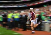19 August 2018; Joe Canning of Galway runs onto the pitch prior to the GAA Hurling All-Ireland Senior Championship Final match between Galway and Limerick at Croke Park in Dublin.  Photo by Brendan Moran/Sportsfile