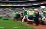 19 August 2018; Peter Casey of Limerick runs onto the pitch prior to the GAA Hurling All-Ireland Senior Championship Final match between Galway and Limerick at Croke Park in Dublin.  Photo by Brendan Moran/Sportsfile