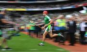19 August 2018; Barry Nash of Limerick runs onto the pitch prior to the GAA Hurling All-Ireland Senior Championship Final match between Galway and Limerick at Croke Park in Dublin.  Photo by Brendan Moran/Sportsfile