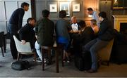 20 August 2018; Manager John Kiely is interviewed by members of the media at the Limerick team hotel, Citywest Hotel, Dublin. Photo by Piaras Ó Mídheach/Sportsfile