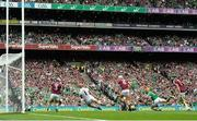 19 August 2018; Tom Morrissey of Limerick shoots to score his side's second goal during the GAA Hurling All-Ireland Senior Championship Final between Galway and Limerick at Croke Park in Dublin. Photo by Stephen McCarthy/Sportsfile