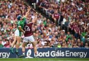 19 August 2018; Mike Casey of Limerick and Conor Cooney of Galway during the GAA Hurling All-Ireland Senior Championship Final between Galway and Limerick at Croke Park in Dublin. Photo by Stephen McCarthy/Sportsfile