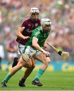 19 August 2018; Cian Lynch of Limerick in action against Gearóid McInerney of Galway during the GAA Hurling All-Ireland Senior Championship Final match between Galway and Limerick at Croke Park in Dublin.  Photo by Brendan Moran/Sportsfile