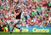 19 August 2018; Joe Canning of Galway scores a goal from a 21 metre free during the GAA Hurling All-Ireland Senior Championship Final match between Galway and Limerick at Croke Park in Dublin.  Photo by Brendan Moran/Sportsfile