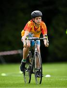 19 August 2018; Oisin Minogue of Moylusa, Co. Clare  competing in the Cycling on Grass U14 event during day two of the Aldi Community Games August Festival at the University of Limerick in Limerick. Photo by Harry Murphy/Sportsfile