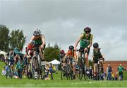 19 August 2018; A general view during the Cycling on Grass U14 event during day two of the Aldi Community Games August Festival at the University of Limerick in Limerick. Photo by Harry Murphy/Sportsfile