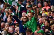 19 August 2018; Limerick supporters Niamh and Diarmuid Greene during the GAA Hurling All-Ireland Senior Championship Final match between Galway and Limerick at Croke Park in Dublin.  Photo by Ramsey Cardy/Sportsfile