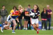 19 August 2018; Eabh O'Donovan of Skibereen, Co. Cork, competing in the Gaelic Football Girls U12 event during day two of the Aldi Community Games August Festival at the University of Limerick in Limerick. Photo by Harry Murphy/Sportsfile