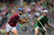 19 August 2018; Johnny Coen of Galway in action against Kyle Hayes of Limerick during the GAA Hurling All-Ireland Senior Championship Final match between Galway and Limerick at Croke Park in Dublin.  Photo by Ramsey Cardy/Sportsfile