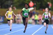 19 August 2018; Vivienne Amaze of Regional, Co. Limerick, competing in the Girls U12 & O10 100m event during day two of the Aldi Community Games August Festival at the University of Limerick in Limerick. Photo by Sam Barnes/Sportsfile