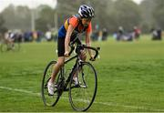 19 August 2018; Aoibhe Kelly of Roscrea, Co. Tipperary, competing in the Girls U12 & O10 Cycling on Grass event during day two of the Aldi Community Games August Festival at the University of Limerick in Limerick. Photo by Sam Barnes/Sportsfile