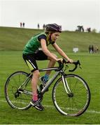 19 August 2018; Angharad Cudlipp of Duagh/Lyre, Co. Kerry, competing in the Girls U12 & O10 Cycling on Grass event during day two of the Aldi Community Games August Festival at the University of Limerick in Limerick. Photo by Sam Barnes/Sportsfile