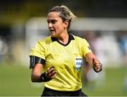 7 August 2018; Referee Maria Marotta  during the UEFA Women's Champions League Qualifier match between Ajax and Wexford Youths at Seaview in Belfast, Antrim. Photo by Oliver McVeigh/Sportsfile