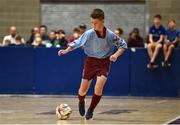 19 August 2018; Levi McNamara of Caherdavin, Co. Limerick, competing in the Futsal U15 & O12 Boys event during day two of the Aldi Community Games August Festival at the University of Limerick in Limerick. Photo by Sam Barnes/Sportsfile