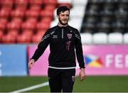 10 August 2018; Wexford Youths First Team Coach Jamie Buckley during the UEFA Women's Champions League Qualifier match between Wexford Youths and Thór/KA at Seaview in Belfast. Photo by Oliver McVeigh/Sportsfile