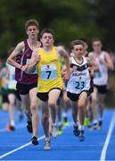 19 August 2018; Sean McGinley of Glenswilly-Churchill, Co. Donegal, centre, competing in the Boys U16 & O14 1500m event during day two of the Aldi Community Games August Festival at the University of Limerick in Limerick. Photo by Sam Barnes/Sportsfile