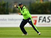 20 August 2018; Simi Singh of Ireland during the T20 International cricket match between Ireland and Afghanistan at Bready Cricket Club, in Magheramason, Co. Tyrone. Photo by Seb Daly/Sportsfile