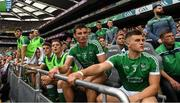 19 August 2018; Mike Casey, 3, Gearóid Hegarty, 10, and the Limerick subs watch the closing minutes of the GAA Hurling All-Ireland Senior Championship Final match between Galway and Limerick at Croke Park in Dublin. Photo by Ray McManus/Sportsfile
