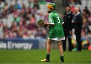 19 August 2018; Daire Ryan, Newtownshandrum NS, Charleville, Co Cork, representing Limerick, during the INTO Cumann na mBunscol GAA Respect Exhibition Go Games at the GAA Hurling All-Ireland Senior Championship Final match between Galway and Limerick at Croke Park in Dublin. Photo by Piaras Ó Mídheach/Sportsfile