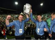 20 August 2018; Paul Browne and Sean Finn, from Bruff GAA club, with the Liam MacCarthy cup during the Limerick All-Ireland Hurling Winning team homecoming at the Gaelic Grounds in Limerick. Photo by Diarmuid Greene/Sportsfile