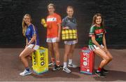 21 August 2018; The Ladies Gaelic Football Association is delighted to work with O.R.S. as Official Hydration Partners for a second year. O.R.S is a product that helps athletes to hydrate before, during and after intense exercise. Pictured at the launch are the 2018/2019 provincial Brand Ambassadors, from left, Aisling McCarthy of Tipperary, Caroline O'Hanlon of Armagh, Aisling Curley of Kildare and Grace Kelly of Mayo #stayhydrated. Photo by David Fitzgerald/Sportsfile