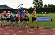 18 August 2018; Runners during the 5000m event during the Irish Life Health National Track & Field Masters Championships at Tullamore Harriers Stadium in Offaly. Photo by Piaras Ó Mídheach/Sportsfile