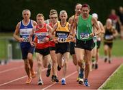 18 August 2018; Ian Egan of Tuam A.C., Co Galway, M50, competing in the 5000m event during the Irish Life Health National Track & Field Masters Championships at Tullamore Harriers Stadium in Offaly. Photo by Piaras Ó Mídheach/Sportsfile