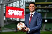 "23 August 2018; Niall Quinn, Keith Andrews, Brian Kerr, Graeme Souness and Kevin Kilbane have been announced on the expert commentary team for Virgin Media Sport, the new home of European football in Ireland. Launching on 18th September, viewers can expect exclusive, award winning Irish analysis and commentary on every single match in the upcoming UEFA Champions League and Europa League - the most watched competitive club football in the world. Virgin Media Sport will be available to all Virgin Media TV customers at no extra cost."" Pictured at the launch is Niall Quinn. Photo by Brendan Moran/Sportsfile"