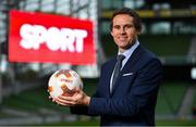 "23 August 2018; Niall Quinn, Keith Andrews, Brian Kerr, Graeme Souness and Kevin Kilbane have been announced on the expert commentary team for Virgin Media Sport, the new home of European football in Ireland. Launching on 18th September, viewers can expect exclusive, award winning Irish analysis and commentary on every single match in the upcoming UEFA Champions League and Europa League - the most watched competitive club football in the world. Virgin Media Sport will be available to all Virgin Media TV customers at no extra cost."" Pictured at the launch is Kevin Kilbane. Photo by Brendan Moran/Sportsfile"