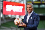 "23 August 2018; Niall Quinn, Keith Andrews, Brian Kerr, Graeme Souness and Kevin Kilbane have been announced on the expert commentary team for Virgin Media Sport, the new home of European football in Ireland. Launching on 18th September, viewers can expect exclusive, award winning Irish analysis and commentary on every single match in the upcoming UEFA Champions League and Europa League - the most watched competitive club football in the world. Virgin Media Sport will be available to all Virgin Media TV customers at no extra cost."" Pictured at the launch is Graeme Souness. Photo by Brendan Moran/Sportsfile"