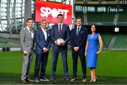 "23 August 2018; Niall Quinn, Keith Andrews, Brian Kerr, Graeme Souness and Kevin Kilbane have been announced on the expert commentary team for Virgin Media Sport, the new home of European football in Ireland. Launching on 18th September, viewers can expect exclusive, award winning Irish analysis and commentary on every single match in the upcoming UEFA Champions League and Europa League - the most watched competitive club football in the world. Virgin Media Sport will be available to all Virgin Media TV customers at no extra cost."" Pictured at the launch are, from left, Tommy Martin, Graeme Souness, Niall Quinn, Kevin Kilbane and Niamh Kinsella. Photo by Brendan Moran/Sportsfile"