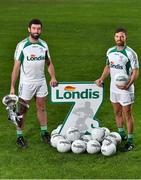 23 August 2018; GAA stars Joe McMahon of Tyrone, left, and Chris Barrett of Mayo, right, pictured at the launch of this year's Londis 7s, the All-Ireland Senior Football Sevens, which takes place on the 1st September 2018 at Kilmacud Crokes GAA Club, in Glenalbyn Road, Stillorgan, Co Dublin.  Photo by Seb Daly/Sportsfile