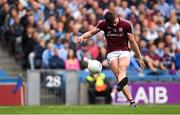 11 August 2018; Shane Walsh of Galway takes a free during the GAA Football All-Ireland Senior Championship semi-final match between Dublin and Galway at Croke Park in Dublin.  Photo by Piaras Ó Mídheach/Sportsfile