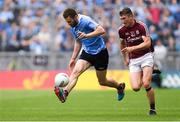 11 August 2018; Jack McCaffrey of Dublin in action against Johnny Heaney of Galway during the GAA Football All-Ireland Senior Championship semi-final match between Dublin and Galway at Croke Park in Dublin.  Photo by Piaras Ó Mídheach/Sportsfile