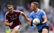 11 August 2018; Paul Mannion of Dublin in action against Kieran Molloy of Galway during the GAA Football All-Ireland Senior Championship semi-final match between Dublin and Galway at Croke Park in Dublin.  Photo by Piaras Ó Mídheach/Sportsfile