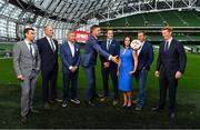 "23 August 2018; Niall Quinn, Keith Andrews, Brian Kerr, Graeme Souness and Kevin Kilbane have been announced on the expert commentary team for Virgin Media Sport, the new home of European football in Ireland. Launching on 18th September, viewers can expect exclusive, award winning Irish analysis and commentary on every single match in the upcoming UEFA Champions League and Europa League - the most watched competitive club football in the world. Virgin Media Sport will be available to all Virgin Media TV customers at no extra cost."" Pictured at the launch are, from left, Tommy Martin, Kieran Holden, Head of Sport, Virgin Media Television, Graeme Souness, Niall Quinn, Kevin Kilbane, Niamh Kinsella and Paul Farrell, Vice President of Commercial at Virgin Media and . Photo by Brendan Moran/Sportsfile"