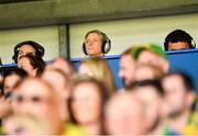25 August 2018; Former Mayo ladies footballer Cora Staunton in the press box during the TG4 All-Ireland Ladies Football Senior Championship Semi-Final match between Cork and Donegal at Dr Hyde Park in Roscommon. Photo by Eóin Noonan/Sportsfile