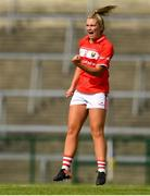25 August 2018; Saoirse Noonan of Cork celebrates after scoring her side's second goal during the TG4 All-Ireland Ladies Football Senior Championship Semi-Final match between Cork and Donegal at Dr Hyde Park in Roscommon. Photo by Eóin Noonan/Sportsfile