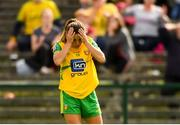 25 August 2018; Niamh Hegarty of Donegal reacts after a missed chance during the TG4 All-Ireland Ladies Football Senior Championship Semi-Final match between Cork and Donegal at Dr Hyde Park in Roscommon. Photo by Piaras Ó Mídheach/Sportsfile