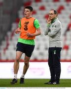 22 March 2018; Declan Rice, left, and manager Martin O'Neill during a Republic of Ireland training session at Antalya Stadium in Antalya, Turkey. Photo by Stephen McCarthy/Sportsfile
