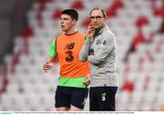 22 March 2018; Manager Martin O'Neill and Declan Rice during a Republic of Ireland training session at Antalya Stadium in Antalya, Turkey. Photo by Stephen McCarthy/Sportsfile